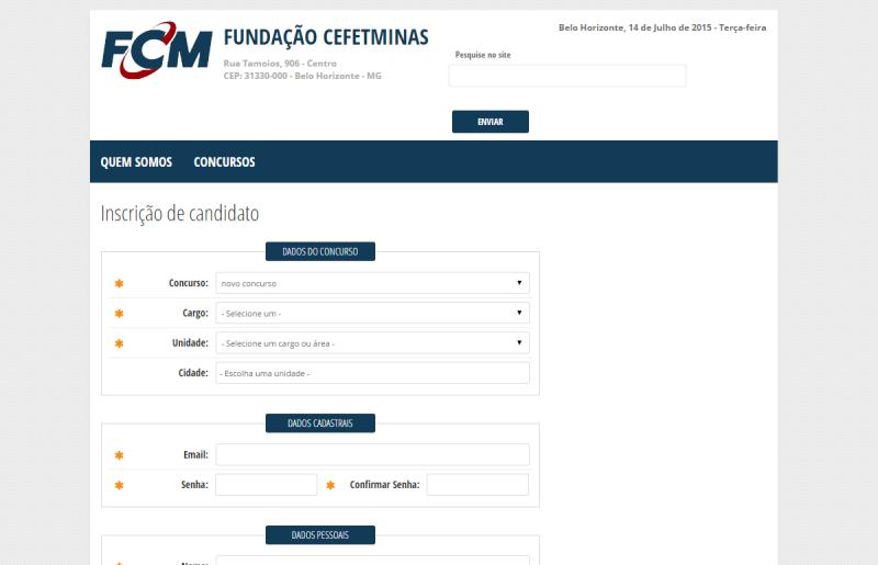 Ficha de Inscrição
