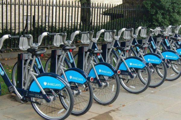 Aplicativos de compartilhamento de bicicletas